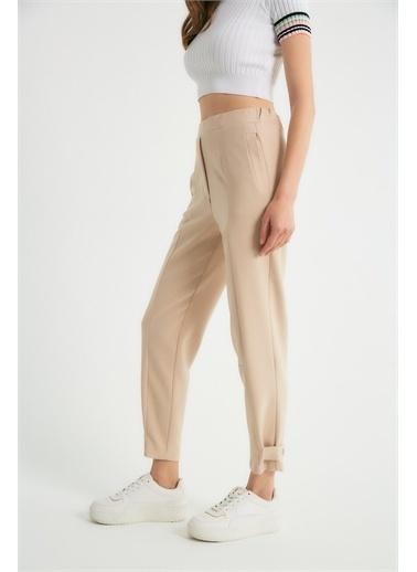 Robin Robin Paça Detaylı Cepli Pantolon Taş Taş